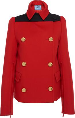 Prada Double-Breasted Wool-Felt Jacket