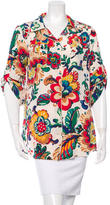 Tory Burch Silk Floral Print Top