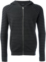 Roberto Collina striped hoodie - men - Cotton/Polyamide - 50
