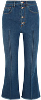 Sonia Rykiel Cropped High-rise Flared Jeans - Blue