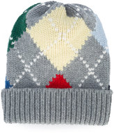 Thom Browne embroidered knitted beanie