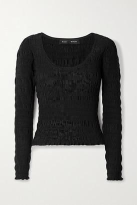 Proenza Schouler Shirred Stretch-knit Top - Black