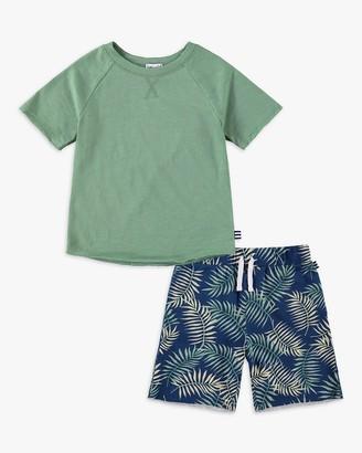 Splendid Little Boy Palm Print Short Set