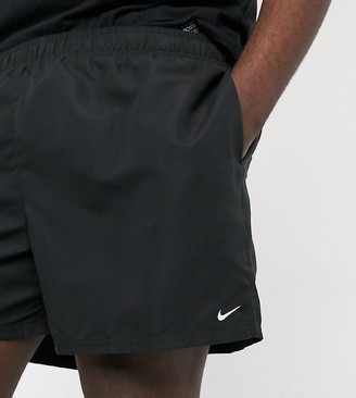 Nike Swimming Plus 5inch Volley shorts in black