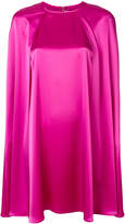 Gianluca Capannolo satin mini cape dress