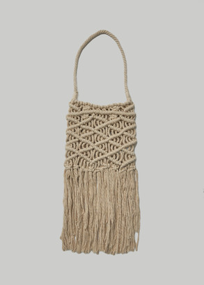 Y's by Yohji Yamamoto Macrame Big Bag in Off White