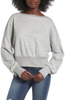 Socialite Women's Ruched Sleeve Sweatshirt