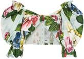 Dolce & Gabbana floral bandeau blouse