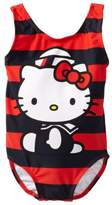 Hello Kitty Nautical Stripe 1 Piece - Little Girl (12M, )