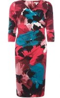 Dorothy Perkins Womens **Lily & Franc Floral Manipulated Bodycon Dress- Multi Colour