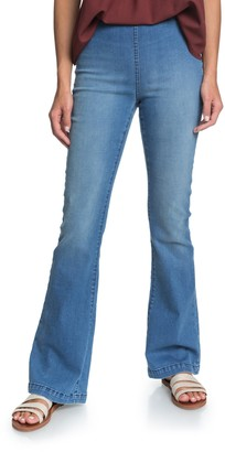 Roxy Wild Blossom High Waist Flare Pull-On Jeans