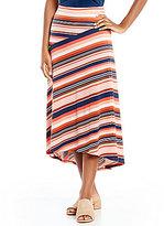 Preston & York Multi-Colored Striped Midi Skirt