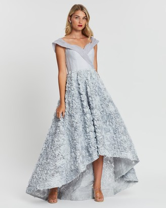 Bariano Grace Off-Shoulder Gown