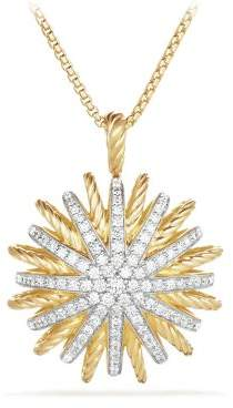 David Yurman Starburst Large Pendant Necklace With Diamonds In 18K