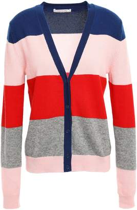 Parker Chinti & Striped Wool And Cashmere-blend Cardigan