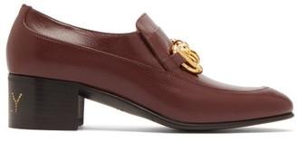 Gucci Ebal Horsebit Leather Loafers - Burgundy