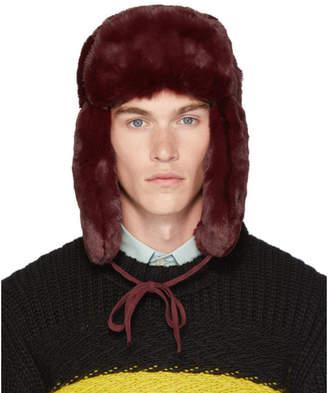 Paul Smith Red Matthew Traper Hat