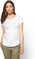 New York & Co. Embroidered Tee - Floral