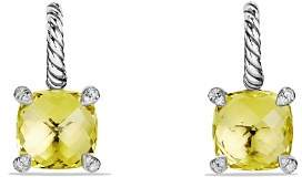 David Yurman Châtelaine Drop Earrings with Lemon Citrine and Diamonds