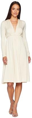Rachel Pally Long Sleeve Caftan (Cream) Women's Dress