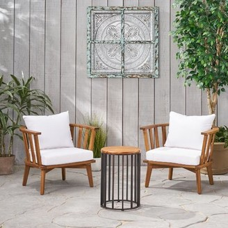 Highland Dunes Reichard Outdoor 3 Piece Seating Group with Cushions