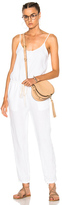 Enza Costa Strappy Jumpsuit in White.
