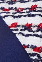 Prabal Gurung Tweed-trimmed stretch-wool dress