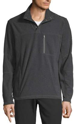 Hi Tec Sports Usa Hi-Tec Textured Fleece Mens Mock Neck Long Sleeve Quarter-Zip Pullover