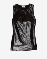 L'Agence Patent Leather Tank Top