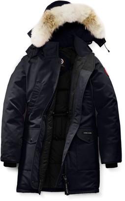 Canada Goose Trillium Fusion Fit Hooded Parka with Genuine Coyote Fur Trim