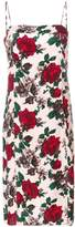 Equipment floral midi shift dress