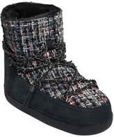 20mm Bouclé & Nubuck Leather Boots
