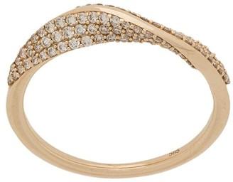 Astley Clarke 14kt yellow gold Vela Twist diamond ring