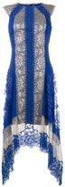 Alberta Ferretti lace asymmetric dress - women - Silk/Cotton/Polyamide/other fibers - 38