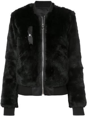 Barbara Bui fox fur bomber jacket