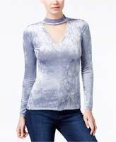 Bar III Velvet Choker Top, Only at Macy's
