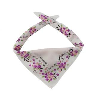 Burberry White Cotton Scarves & pocket squares