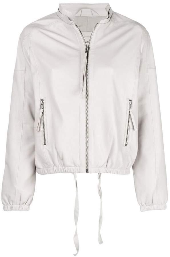 Humanoid leather bomber jacket
