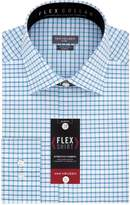 Van Heusen Men's Flex Slim Fit Plaid Spread Collar Dress Shirt