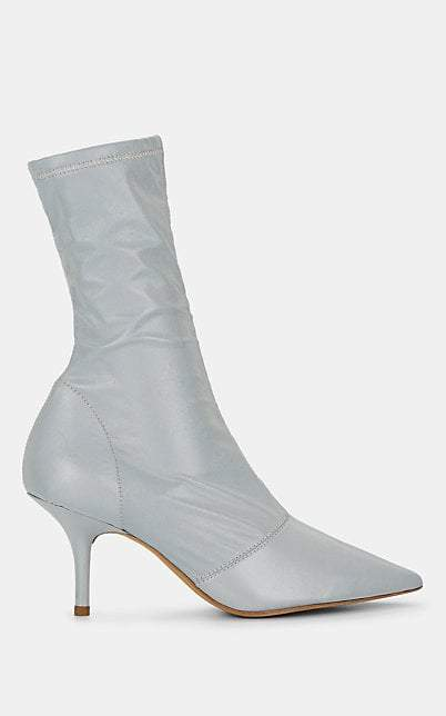 Yeezy Women's Stretch-Fabric Ankle Boots - Silver