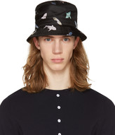 Thom Browne Black Shark and Surfboard Bucket Hat