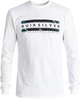 Quiksilver Men's In Da Box Graphic-Print Logo Long Sleeved Shirt
