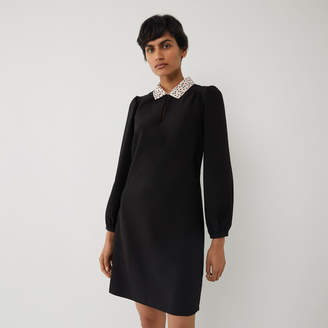 Warehouse SPOT COLLAR MINI SHIFT DRESS