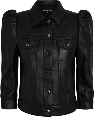 retrofete Ada Cropped Leather Jacket
