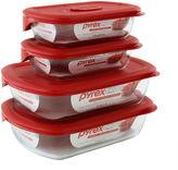 Pyrex Pryex Pro 8-pc. Rectangular Food Storage Set