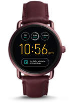 Fossil Q Wander Touchscreen Wine Leather Smartwatch