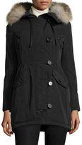 Moncler Arriette Fur-Trim Puffer Coat