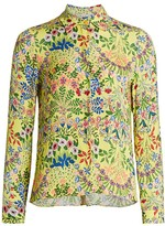Alice + Olivia Willa Floral Blouse