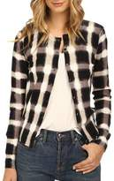 Marc by Marc Jacobs Blurred Plaid Cardigan