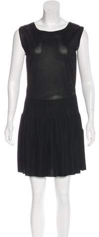 Chanel Knit Pleated Dress